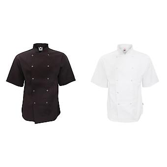 AFD Adults Unisex Short Sleeve Chefs Jacket