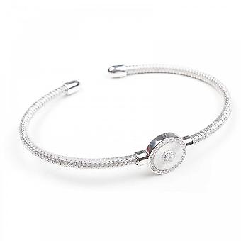 Nour London Braided Silver Open Bracelet