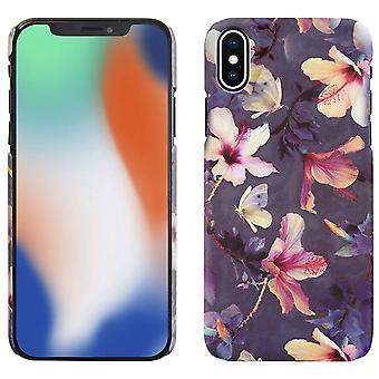 Hard back flower iphone xs case