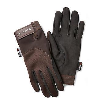 Ariat Ladies Insulated Tek Grip Riding Gloves - Bark