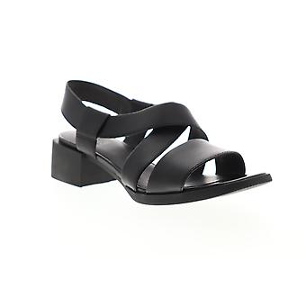 Camper Kobo  Womens Black Leather Strap Slingback Sandals Shoes