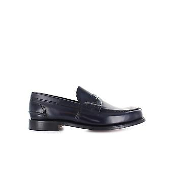 CHURCH'S TUNBRIDGE LOAFER BOOKBINDER FUME LIGHT NAVY
