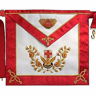 Masonic scottish rite aasr leather apron 18th degree hand embroidered