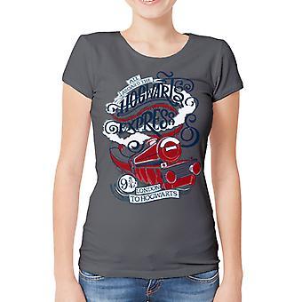 Harry Potter-Hogwarts Express ausgestattet T-Shirt, Frauen