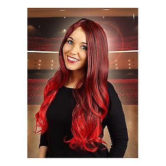 Perücken wellige Perücke rot Jessica