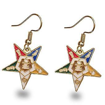 Ordre de l'étoile orientale oes boucles d'oreilles dorées
