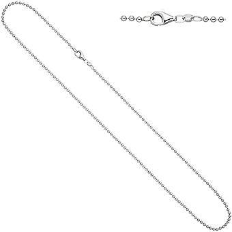 Damen Kugelkette 925 Silber diamantiert 1,2 mm 38 cm Kette Halskette Silberkette