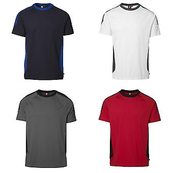 ID Mens Pro Wear Contrast Regular Fitting Short Sleeve Sports T-Shirt