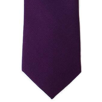 Michelsons voor Londen Plain Twill zijden stropdas - Aubergine paars