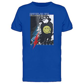 SmileyWorld Retro Style Dj Turn It Up Men's T-shirt