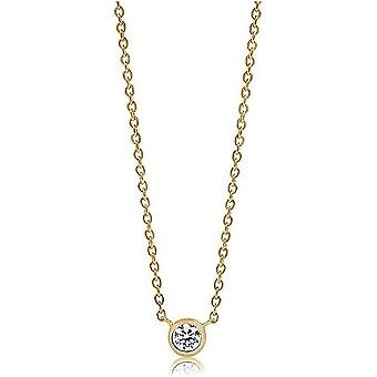 Sif Jakobs necklace Sardinia Uno gold plated SJ-C1016-CZ-YG