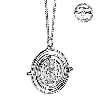 Harry Potter Sterling Silber Swarovski Halskette Zeit Turner