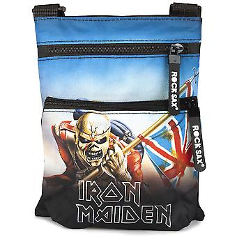 Rock Sax Iron Maiden Trooper Cross Shoulder Body Bag