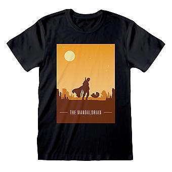 Star Wars El Cartel de Estilo Retro Mandalorian Hombres's Camiseta de la Casa de los Hombres Mercancía oficial