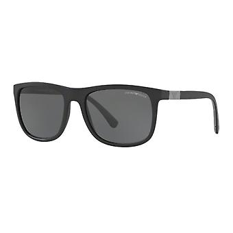 Emporio Armani EA4079 5042/87 Matte Black/Grey Sunglasses