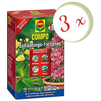 Sparset: 3 x COMPO Pest-fri plus, 100 ml
