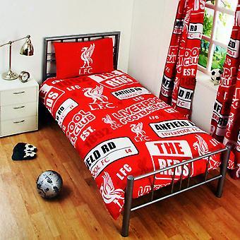 Liverpool FC Childrens/Kids Official Patch Football Crest Duvet Set