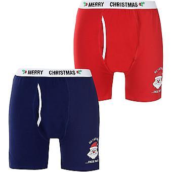 D555 Christmas Claus Boxer Shorts Mens