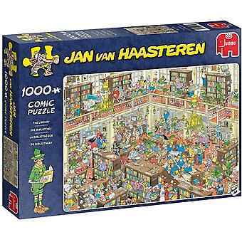 Jan Van Haasteren 1000 Piece The Library Jigsaw Puzzle