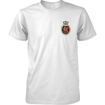 HMS Marlborough - udrangeret Royal Navy skib T-Shirt farve