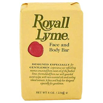 Royall Lyme Face and Body Bar Soap By Royall Fragrances 8 oz Face and Body Bar Soap