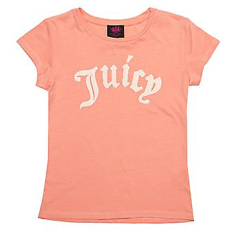 Girl's Juicy Couture Infant Gothic Script T-Shirt in Orange