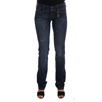 Costume National Blue Cotton Slim Fit Stretch Denim Jeans