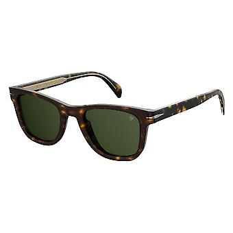 David Beckham DB1006/S 086/QT Dark Havana/Green Sunglasses