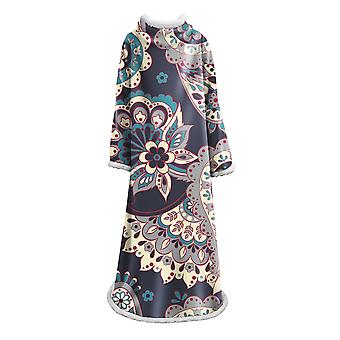 YANGFAN Creative Geometry Printed Blanket With Sleeves
