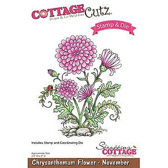 CottageCutz Cutting Die - Krysantemumblomma - November