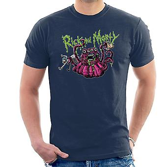 Rick en Morty 4 eyed monster mannen ' s T-shirt
