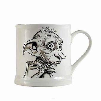 Harry Potter Mug Vintage Dobby face bone china new Official White Boxed