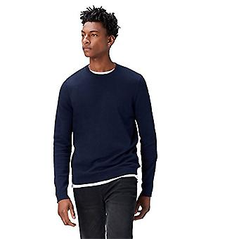 find. Men's Cotton Crew Neck Sweater, Blue (Navy), Small