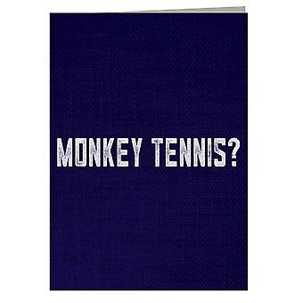 Alan Partridge Monkey Tennis Greeting Card