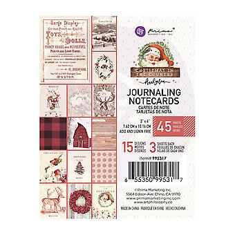 Prima Marketing Christmas In The Country 3x4 Inch Journaling Cards