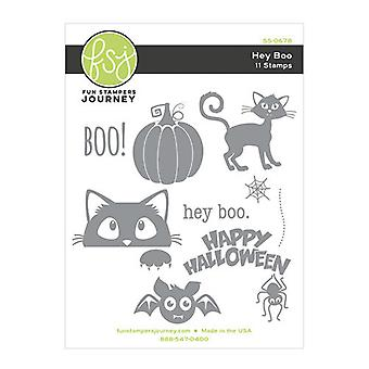 Fun Stampers Journey Hey Boo Rubber Stamps