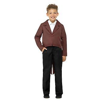 Niños marrón vestido elegante Tailcoat