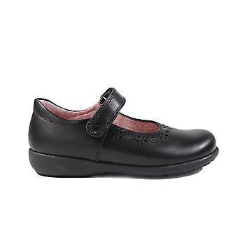 Startrite Emily Black Leather Girls Mary Jane School Schoenen