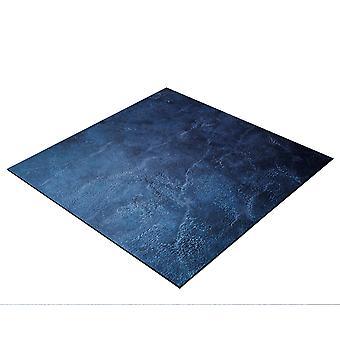 BRESSER Flatlay Hintergrund für Legebilder 40x40cm Abstraktes Dunkelblau
