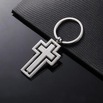 الصليب Keychain المسيحية الكاثوليكية الدين هدية الصليب يسوع الوردية الصليب