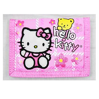 Trifold Wallet - Hello Kitty - w/ Bear Pink - Licensed - 81605