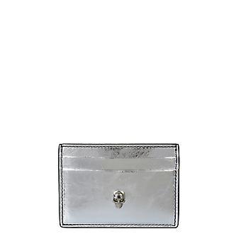 Alexander Mcqueen 6320381yafi1450 Frauen's Silber Leder Kartenhalter