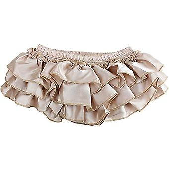 juDanzy Ruffle Chiffon or Satin Tutu All Around Bloomer Diaper Cover (6-24 Months, Champagne)
