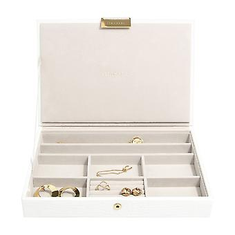 Stackers Chalk White Croc Classic Jewellery Box Lid