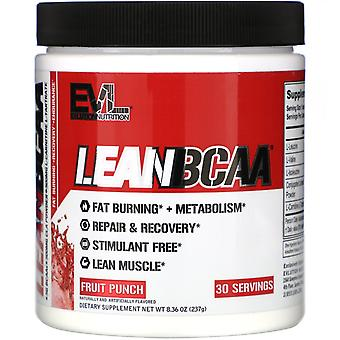 EVLution Nutrition, LEANBCAA, Fruit Punch, 8.36 oz (237 g)