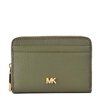 MICHAEL Michael Kors Mott Zip Around Card Case Army Green
