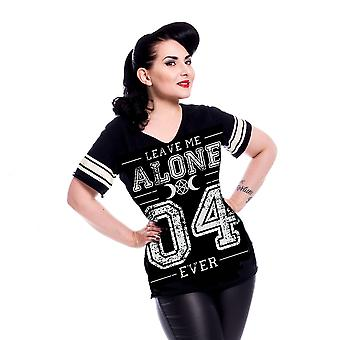 Heartless - leave me alone 4 ever - womens black t-shirt
