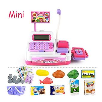 Mini Simulation Supermarket Checkout Counter Goods Toys - Pretend Play Shopping