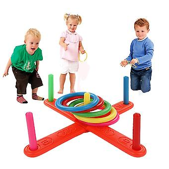 Funny Kids Outdoor Sports Toys, Hoop Ring Toss Plastic Ring Toss Quoits Garden