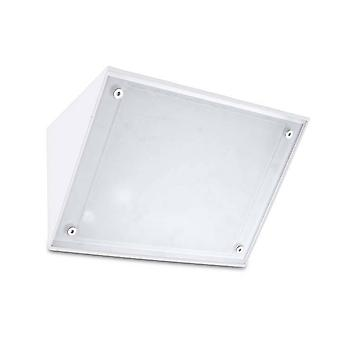 Leds-C4 Curie Glas - LED Outdoor Wandleuchte Weiß IP65